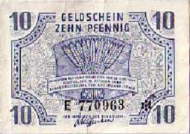 Duitsland Rheinland-Pfalz Ros.212 10 Pfennig 1947