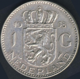 Sch.1106 Zilver 1 Gulden 1958