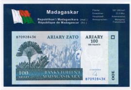 Madagascar P86.b 100 Ariary 2004