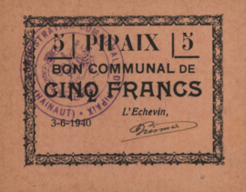 België - Pipaix  5 Francs 1940