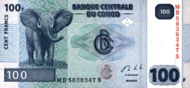 Congo Democratische Republiek (Kinshasa) P98.b 100 Francs 2007-13