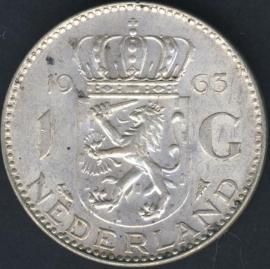 Sch.1107 Zilver 1 Gulden 1963