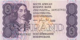 Suid-Afrikaanse Reserwebank 5 (FIVE/VYF) Rand 1978-1994