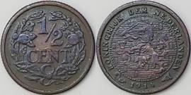 Nederland Sch.1009 1/2 Cent 1914
