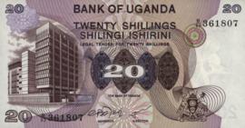 Oeganda P12.b 20 Shillings 1979 (No date)
