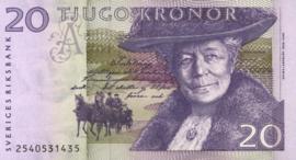 Zweden P63.a 20 Kronor 1991-4