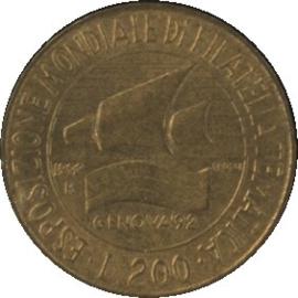 Italië KM151 200 LIRE 1992R