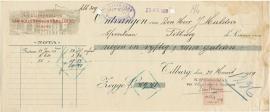 Nederland, Tilburg, Kwitantie, Van Vollenhoven & Smulders, 1929