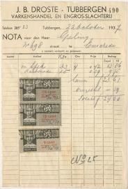Nederland, Tubbergen, Nota, J.B. Droste, 1937