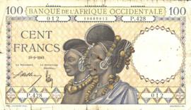 Frans West Afrika - L'Afrique Occidentale P23 100 Francs 1936-1941