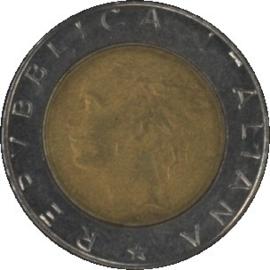 Italië KM111 500 Lire 1988R