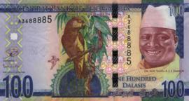 Gambia P35.a 100 Dalasis 2015 (No date)