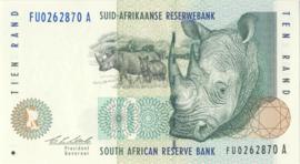 Zuid Afrika P123 10 Rand ND (1993-99)