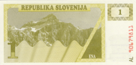 Slovenië P1.a 1 Tolar 1990
