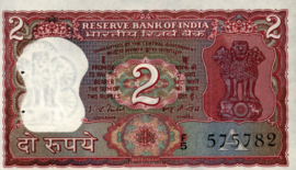 India P53.d 2 Rupees (No date)