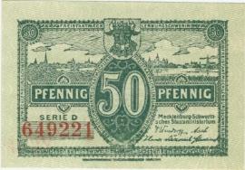 Mecklenburg-Schwerin, Staatsministerium, Schwerin 50 Pfennig 1922