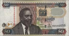Kenia P41/47.e 50 Shillings 2003/2010