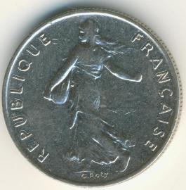 Frankrijk ½ Franc KM931.1