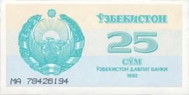 Oezbekistan P65.a 25 Sum 1992
