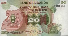 Oeganda P17 20 Shillings 1982 (No date)