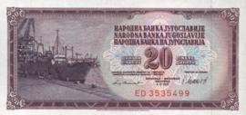 Joegoslavië P88.b 20 Dinara 1981