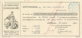 Nederland, Amsterdam, Verzekeringspolis, Polis en nota, 1943