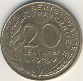 Frankrijk #KM930 20 Centimes 1962-2000