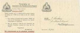 Nederland, Hilversum, Vereeniging van Leeraren in de Handelswetenschappen, Nota, Geen Datum (1950's)
