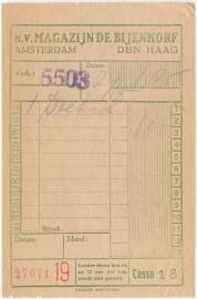 Nederland, Amsterdam, Nota, De Bijenkorf, NO DATE (1920-30)