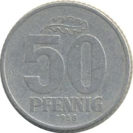Oost Duitsland KM12.1 50 Pfennig 1958A