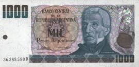 Argentinië P317.c 1.000 Pesos Argentinos 1984 (No date)