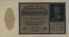 Duitsland 10.000 Mark 1922-01-19 Ros.069.a DEU78.a