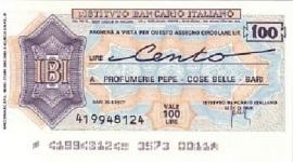 Istituto Bancario Italiano - 100 Lire