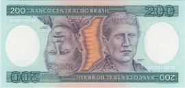Brazilië P199b 200 Cruzeiros ND (1981-1984)