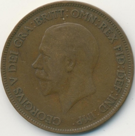 Engeland 1 PENNY 1930 KM# 838