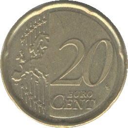 Belgium KM278 20 Euro Cents 2008-2013