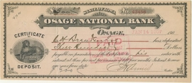 Iowa, Osage National Bank, Osage. 1907