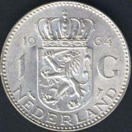 Sch.1108 Zilver 1 Gulden 1964
