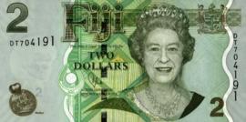 Fiji P109.b 2 Dollars 2007-11 (No date)