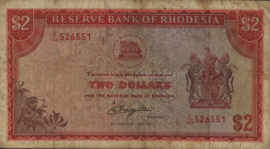 Rhodesië P39 2 Dollars 1979