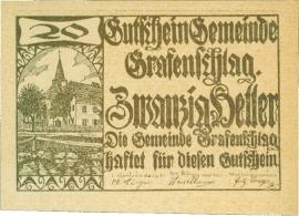 Grafenschlag 20 Heller 31 Dezember 1920 UNC