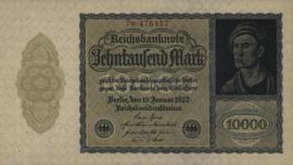 Duitsland Ros.069j: N 10.000 Mark 1922 DEU78c: N