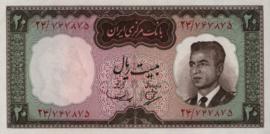 Iran B208 P78 20 Rials 1965 (No Date)