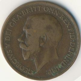 Engeland 1 PENNY 1917 KM# 810