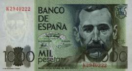 Spanje P158 1.000 Pesetas 1979