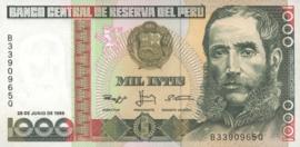 Peru  P136b 1.000 Intis 1988