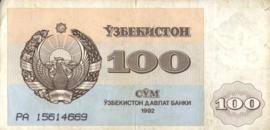 Oezbekistan P67 100 Som 1992