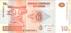 Congo Democratische Republiek P93 10 Francs 2003