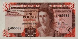 Gibraltar P20.d 1 pound 1975-88