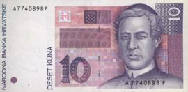 Kroatië P29 10 Kuna 1993